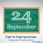 Cierre de Inscripciones: 24 de Septiembre